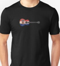 Aged and Worn Croatian Acoustic Guitar Unisex T-Shirt