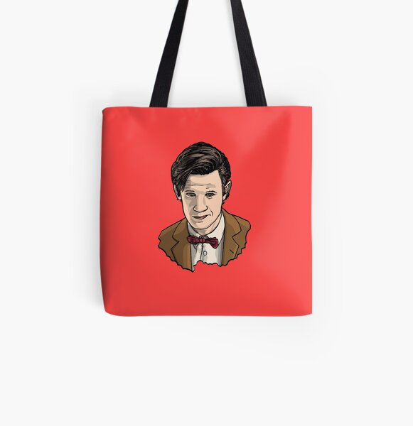 Eleventh Doctor Face All Over Print Tote Bag