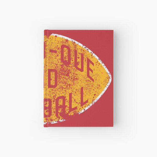 BBQ and Football - Red & Gold Hardcover Journal
