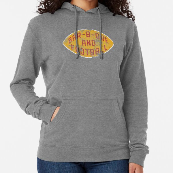 BBQ and Football - Red & Gold Lightweight Hoodie