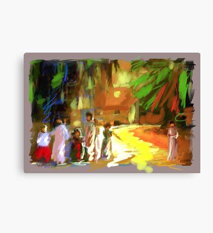 PAESAGGIO CON BAMBINE Canvas Print