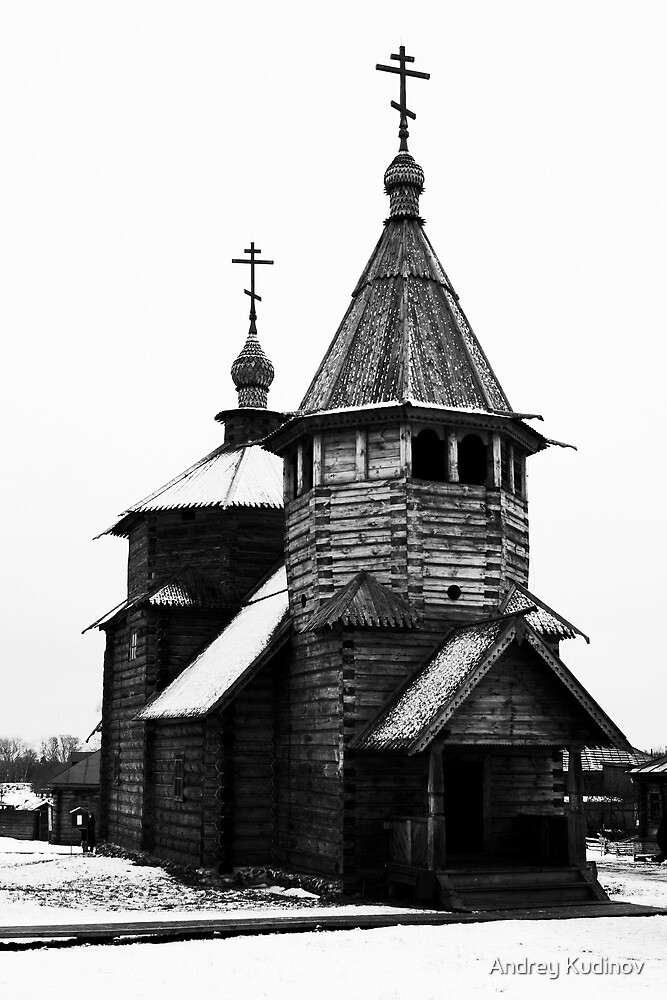Wooden church in Suzdal by Andrey Kudinov