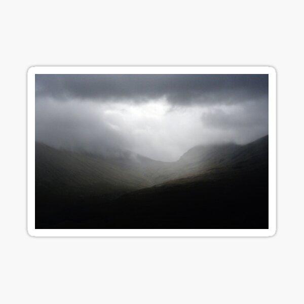 Rain clouds across the Highland Mountain Sticker