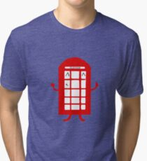 Cartoon Telephone Box Tri-blend T-Shirt