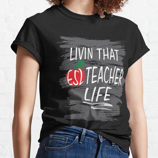 ESL Teacher Tshirt Chinese English Student Gift Oceans Apart Classic T-Shirt