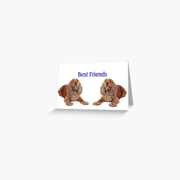 Spaniel Best Friends Greeting Card