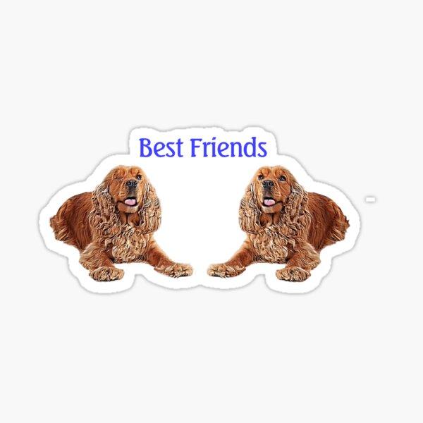 Spaniel Best Friends Sticker