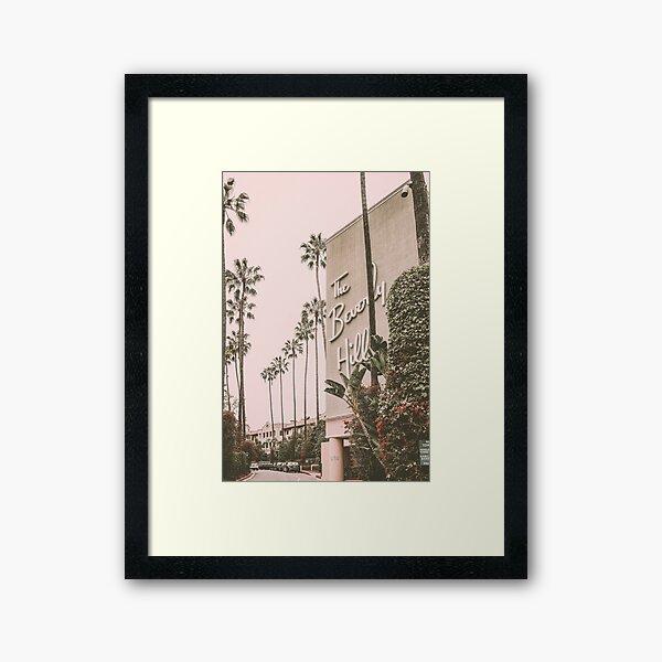 Beverly Hills Hotel Pink Framed Art Print