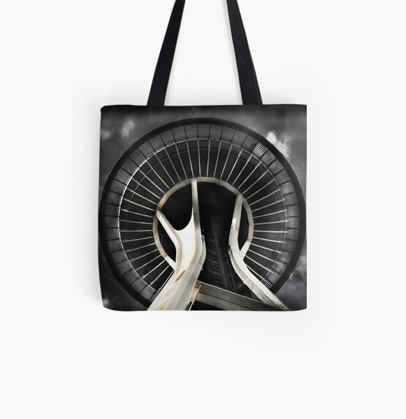 Seattle Space Needle All Over Print Tote Bag