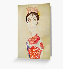 spanish woman with cigarette Greeting Card