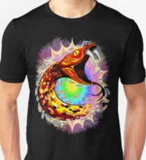 Snake Attack Psychedelic Surreal Art Slim Fit T-Shirt