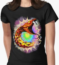Snake Attack Psychedelic Surreal Art Fitted T-Shirt