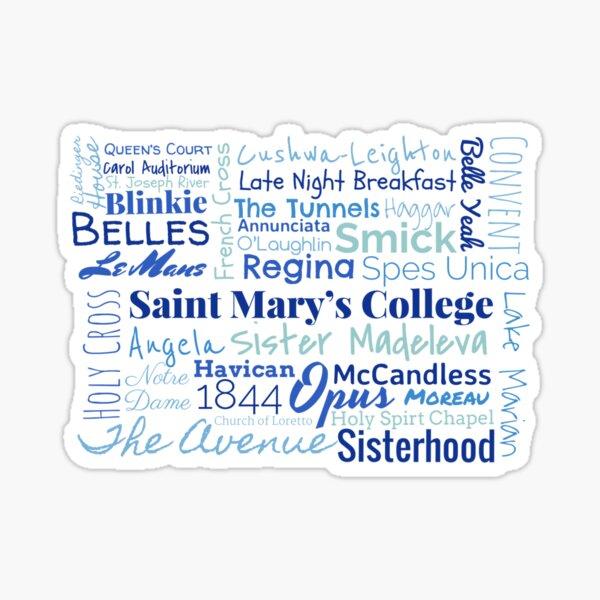Saint Mary's College Sticker