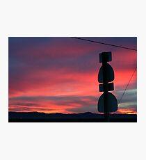 Antelope Valley Sunset, Lancaster California Photographic Print