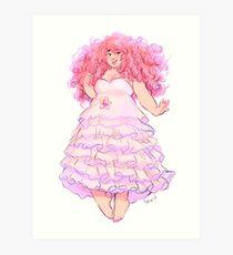 Lámina artística Cuarzo rosa