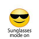 sunglasses mode on. Sonnenbrille an, zum Strand bitte von Shirtbutler