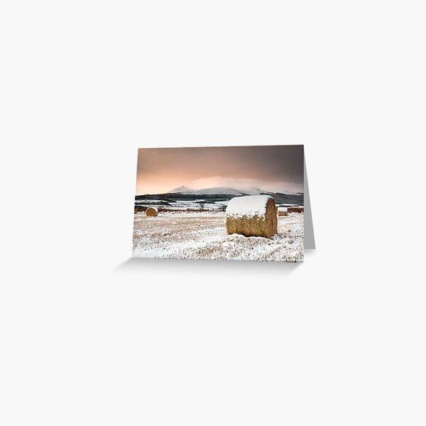 Bennachie Winter Sunrise Greeting Card