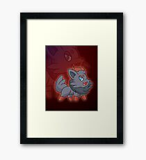 Charcoal Fox Framed Print
