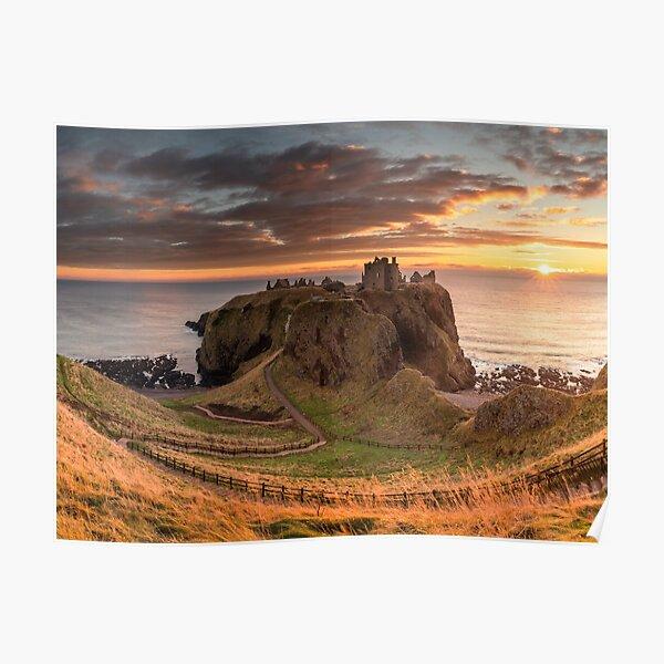 Sunrise at Dunnottar Castle Poster