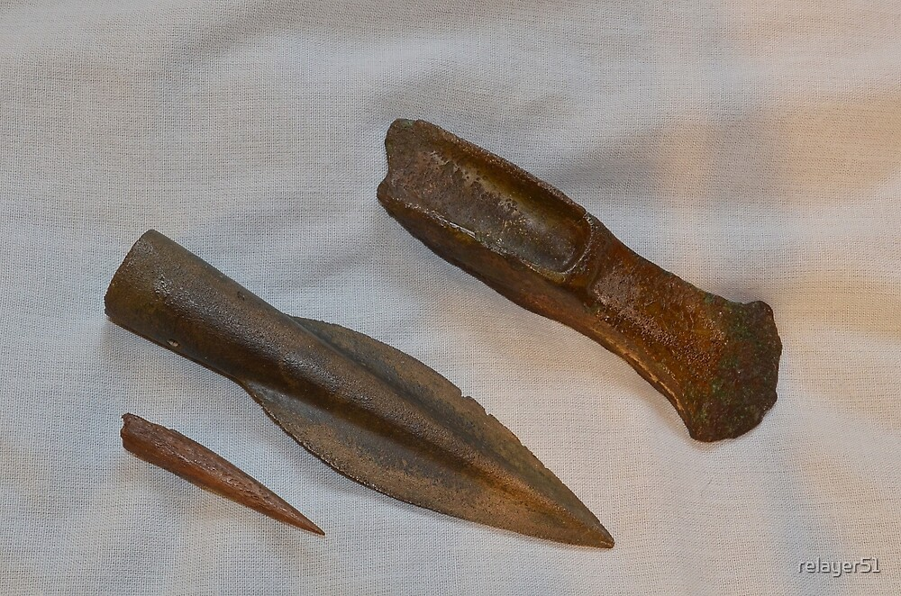 For Manon,  Bronze age Axe, and Spear Head . by relayer51