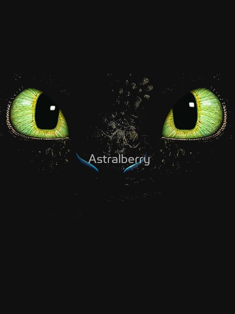 Toothless fiery eyes | Unisex T-Shirt