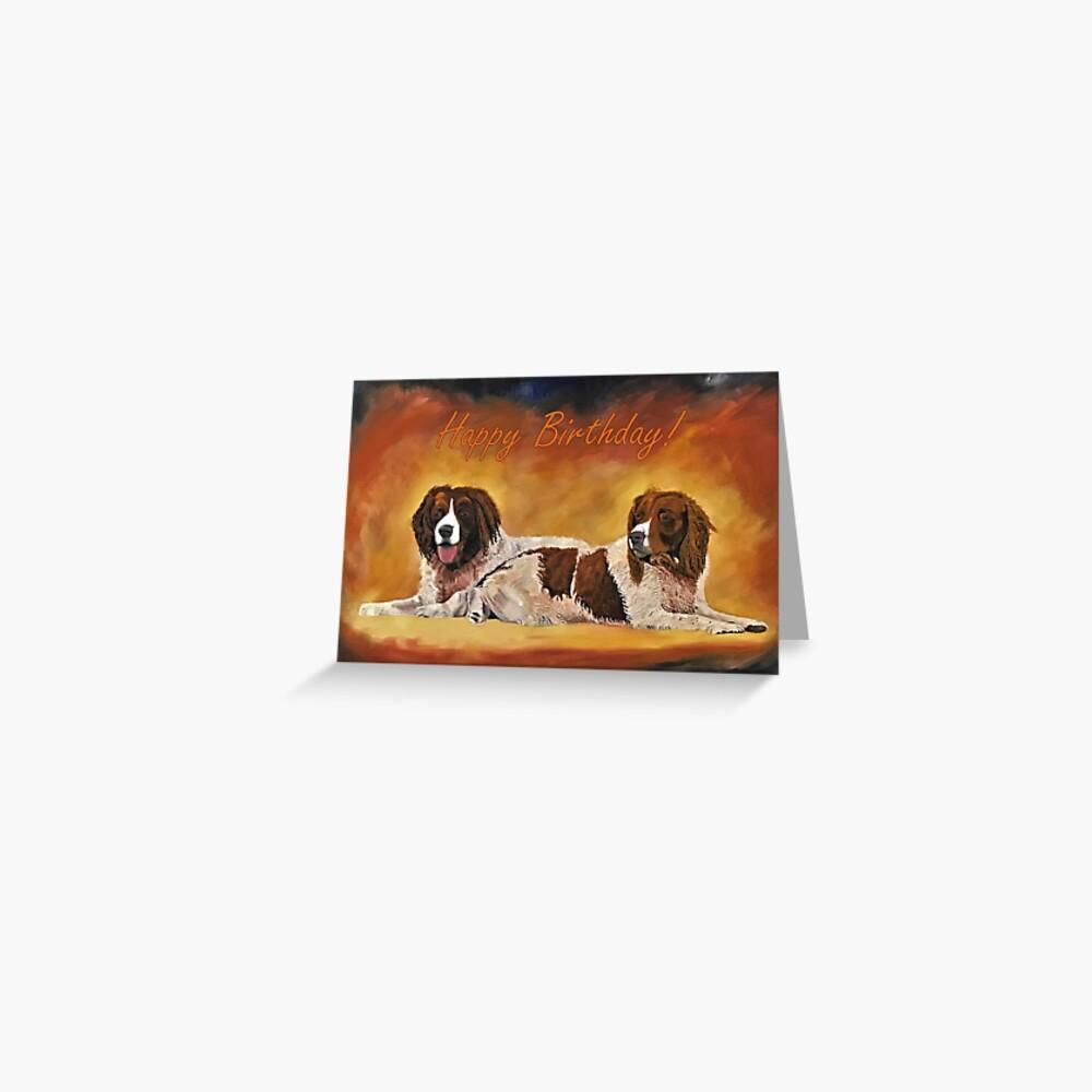 Spaniel Friends Birthday Card Greeting Card