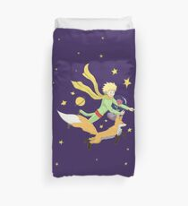 The Little Prince - Flight Through Space  Duvet Cover