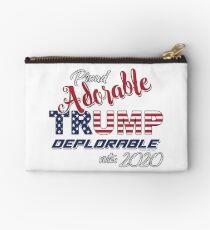 2020 Adorable Deplorable | TRUMP SUPPORTER  Zipper Pouch