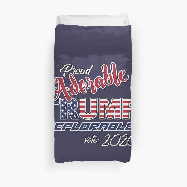 2020 Adorable Deplorable | TRUMP SUPPORTER  Duvet Cover