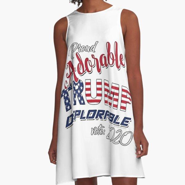 2020 Adorable Deplorable | TRUMP SUPPORTER  A-Line Dress