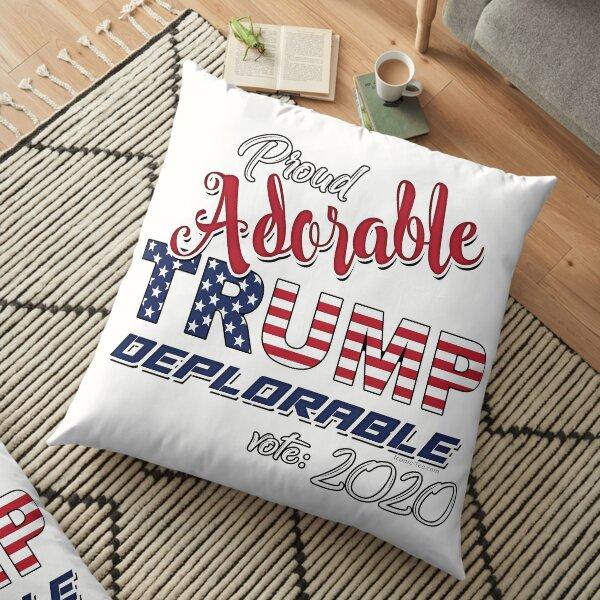 2020 Adorable Deplorable | TRUMP SUPPORTER  Floor Pillow