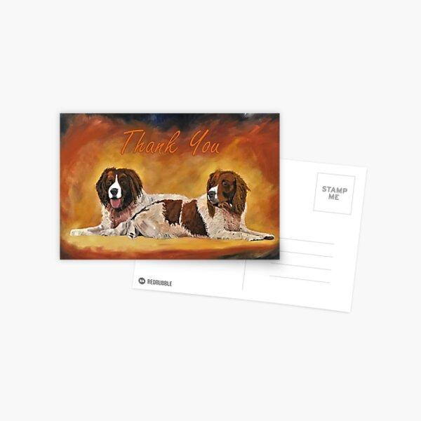 Spaniel Friends Thank You Card Postcard