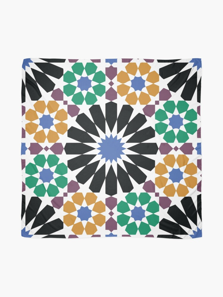 Alhambra Tessellations - Turquoise Violet and grey on white by Cecca Designs iphone 11 case