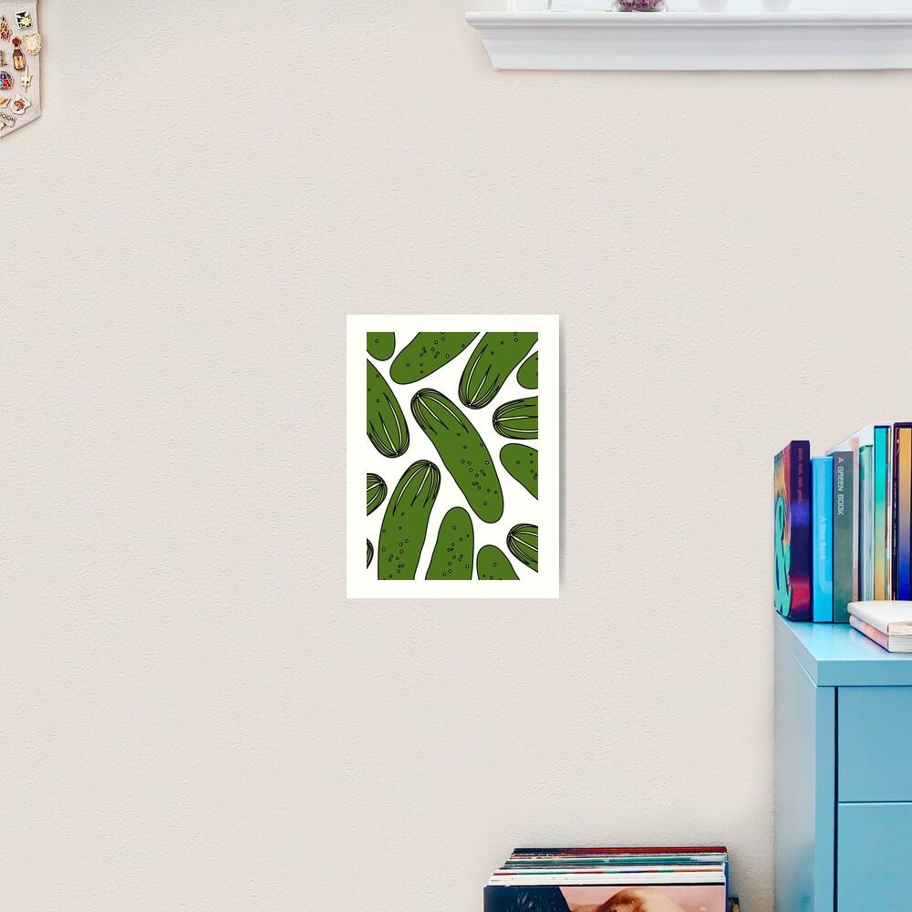 Green Pickles Cucumbers Art Print