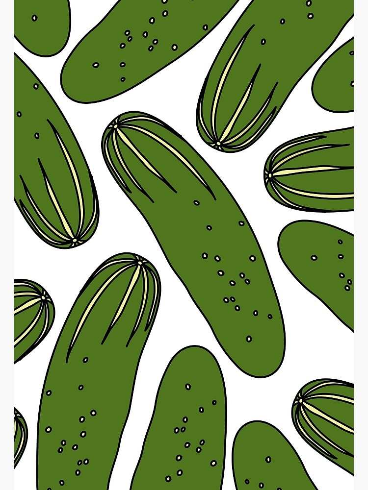 Green Pickles Cucumbers by notsniwart