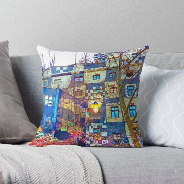 Hundertwasser Museum. Vienna. Austria Throw Pillow