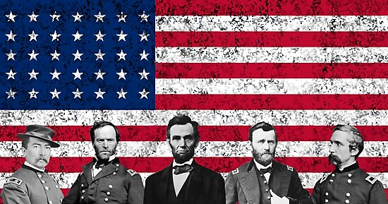 Union Heroes and The American Flag by warishellstore