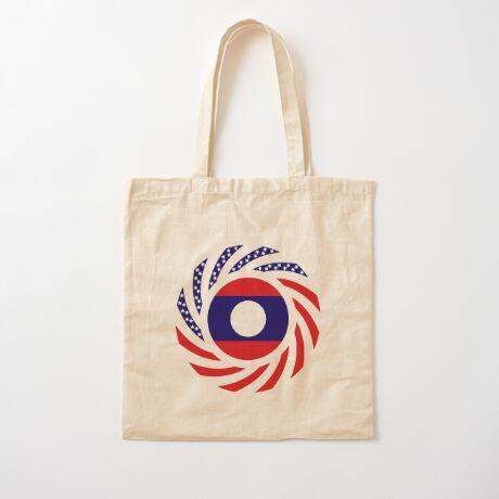Lao American Multinational Patriot Flag Series Cotton Tote Bag