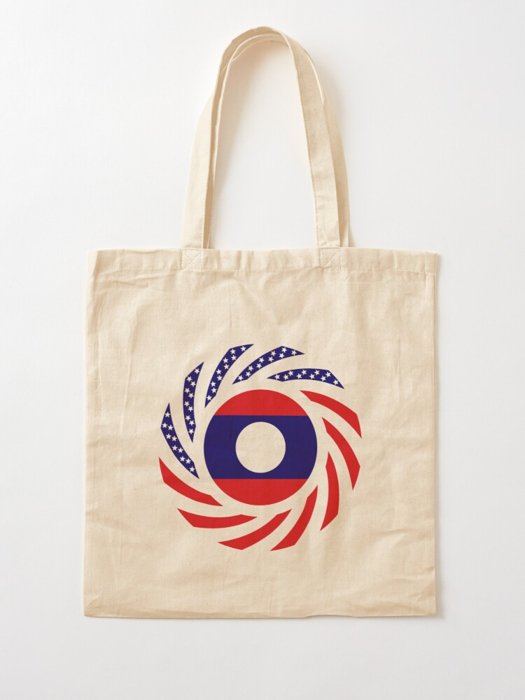Alternate view of Lao American Multinational Patriot Flag Series Tote Bag