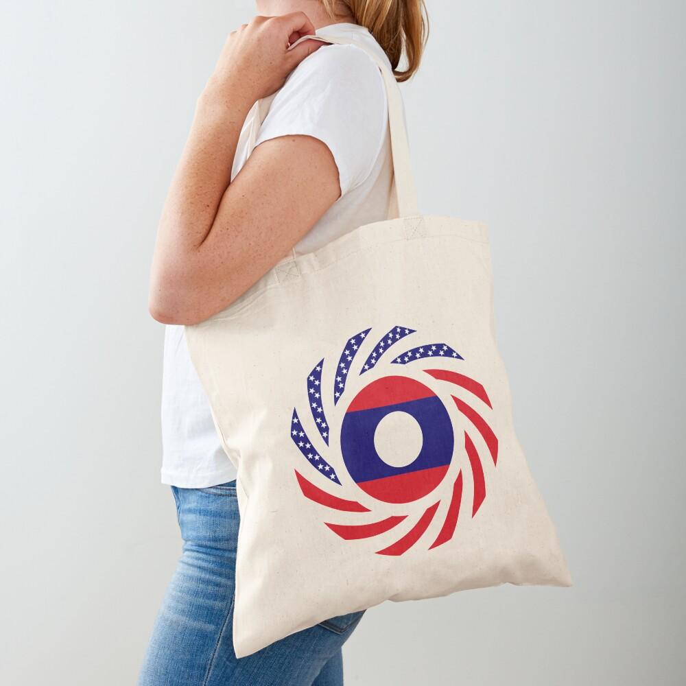 Lao American Multinational Patriot Flag Series Tote Bag