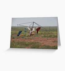 Hill's Hoist in the outback. Greeting Card