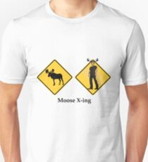 Moose Crossing Unisex T-Shirt