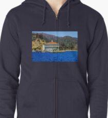 Avalon Casino, Santa Catalina Island, California, USA Zipped Hoodie
