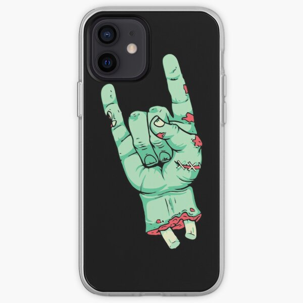 Hard Rock Zombie Horn Hand iPhone Soft Case