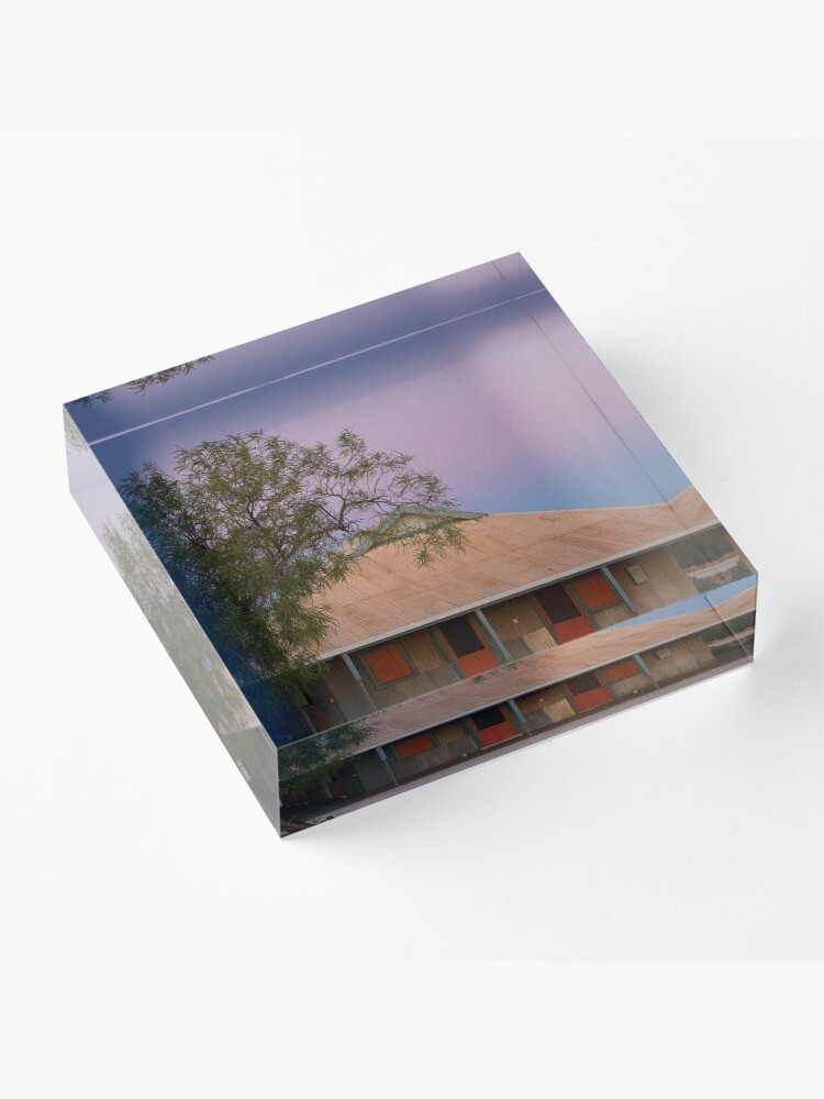 Alternate view of Outback Shearers Quarters at Sunrise Acrylic Block