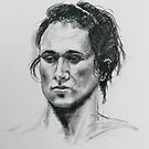 Portrait of Regina in charcoal by Mick Kupresanin