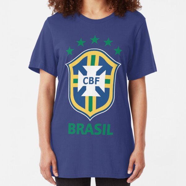Brasil CBF Crest Futbol Slim Fit T-Shirt