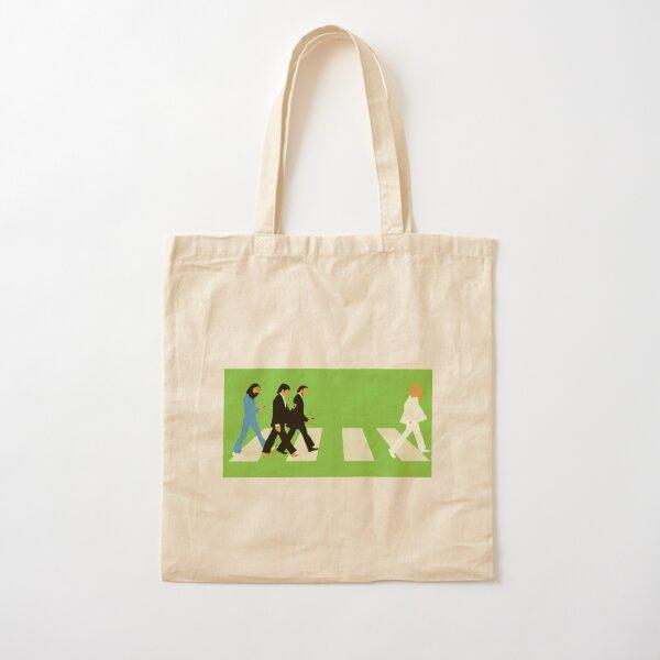 Beatles Walking Crosswalk Cotton Tote Bag
