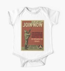 WPA United States Government Work Project Administration Poster 0863 Join Now The Office of Civilian Defense Needs You For Decontamination Squads One Piece - Short Sleeve