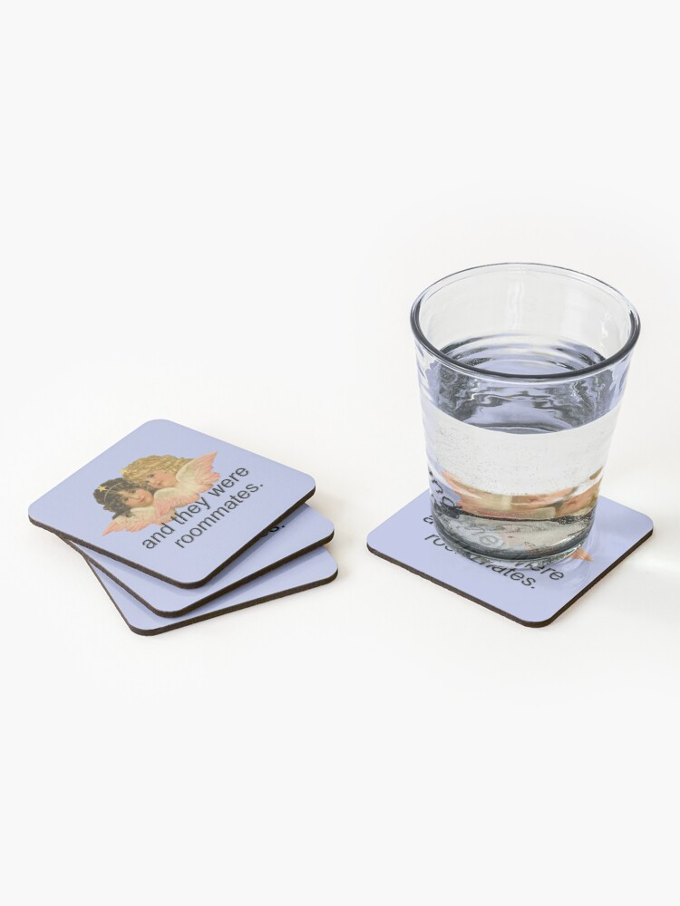 Alternate view of And They Were Roommates Meme with Angels Coasters (Set of 4)